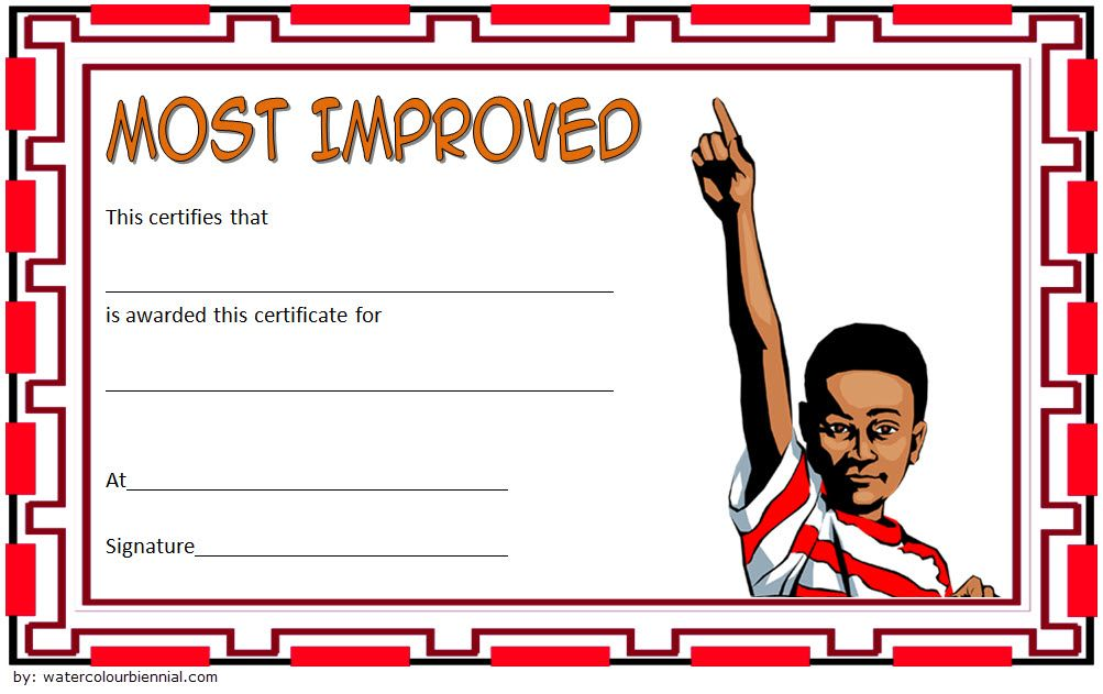 Most Improved Student Certificate Template Free 6 Student Certificates Star Students Student Council