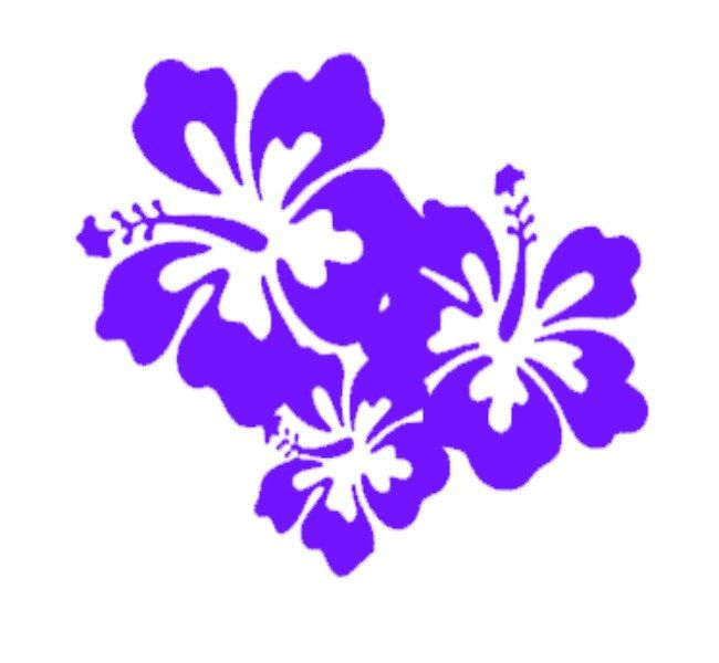 Hibiscus Flower Lei Window Sticker Vinyl Decal Hawaii Aloha Flowers Tropical