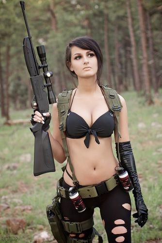 gun with Cosplay girl