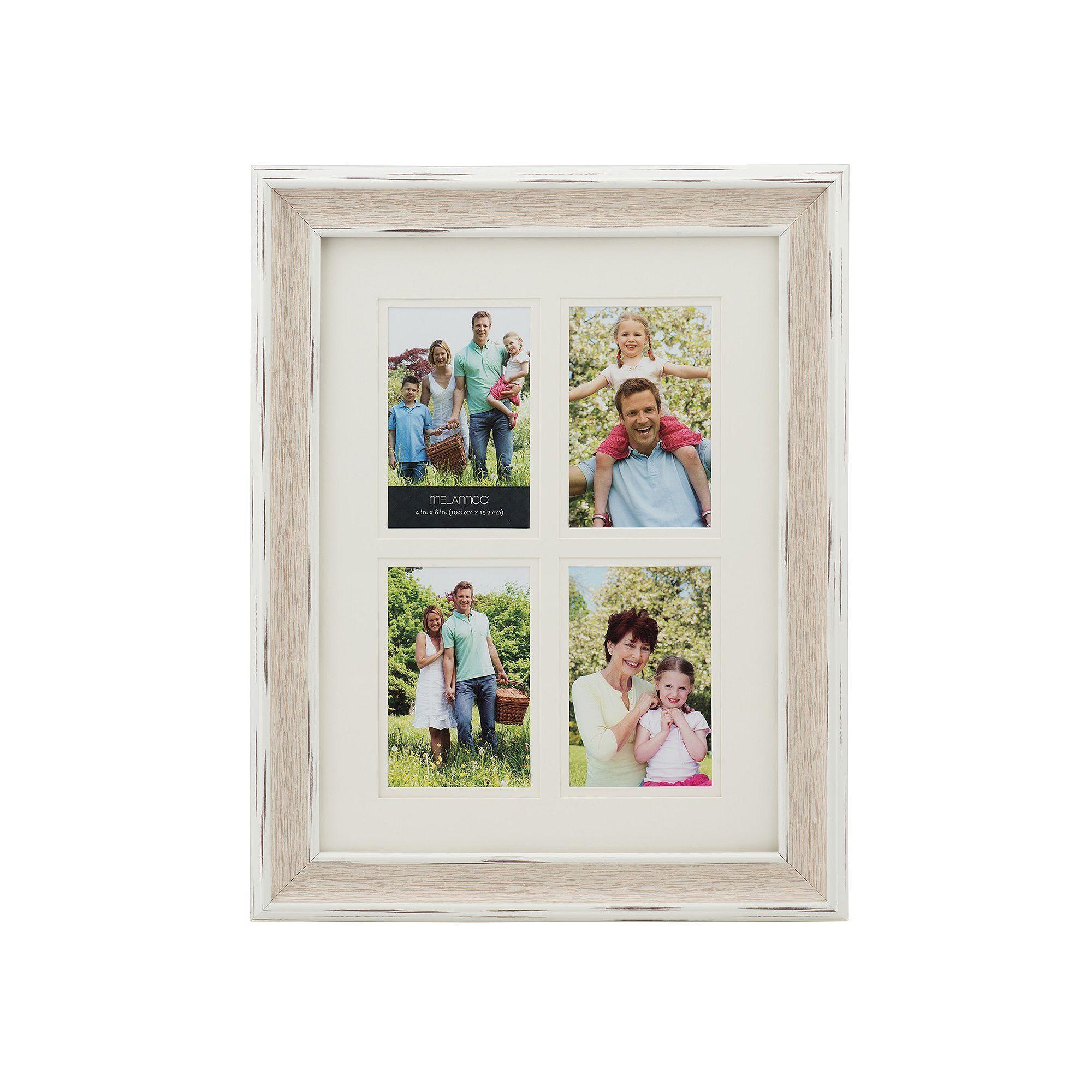 Melannco 4-Opening 4 x 6 Wood Grain Collage Frame | Pinterest | Wood ...