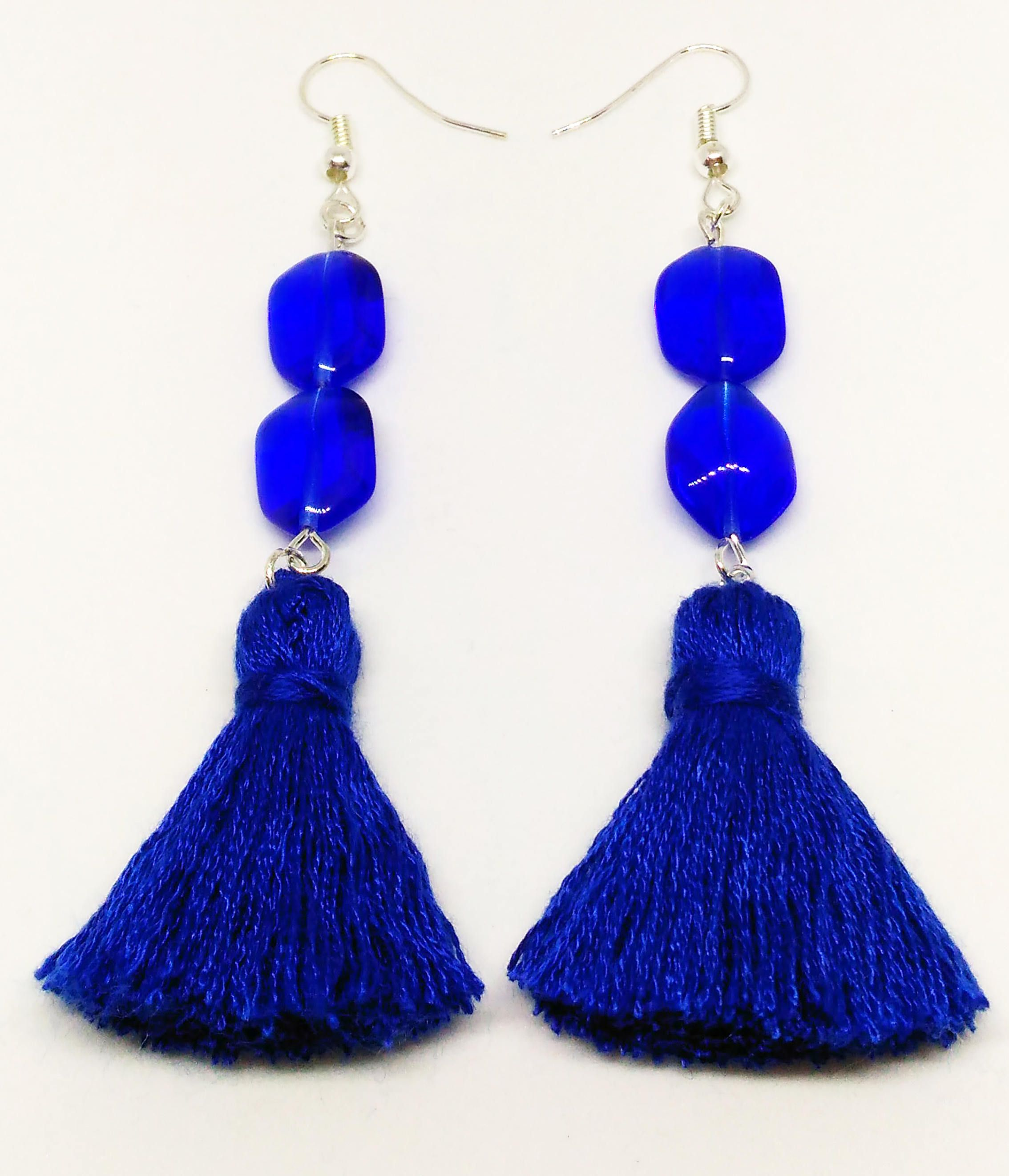 fringe m earrings haskell glitzy tassel product crystal down blue fritzy drop dropdown