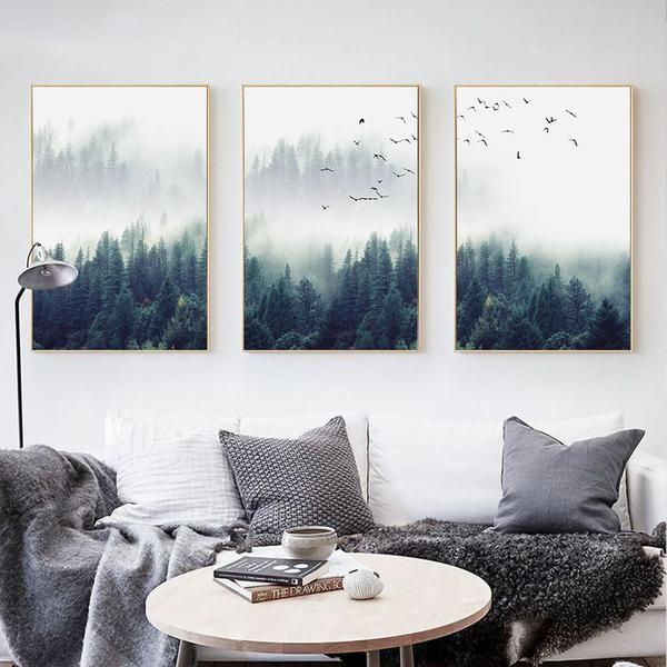 Wunderbar Nordic Forests   Bulben House Dekoration, Bilder Wohnzimmer, Leinwand,  Malerei, Wohnen,
