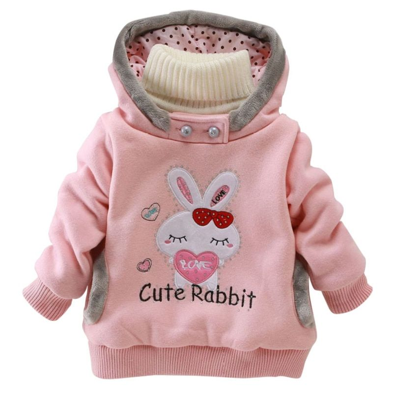 Newborn Boys Girls Winter Vest Child Add Wool Warm Coat Rainbow Hooded Jacket