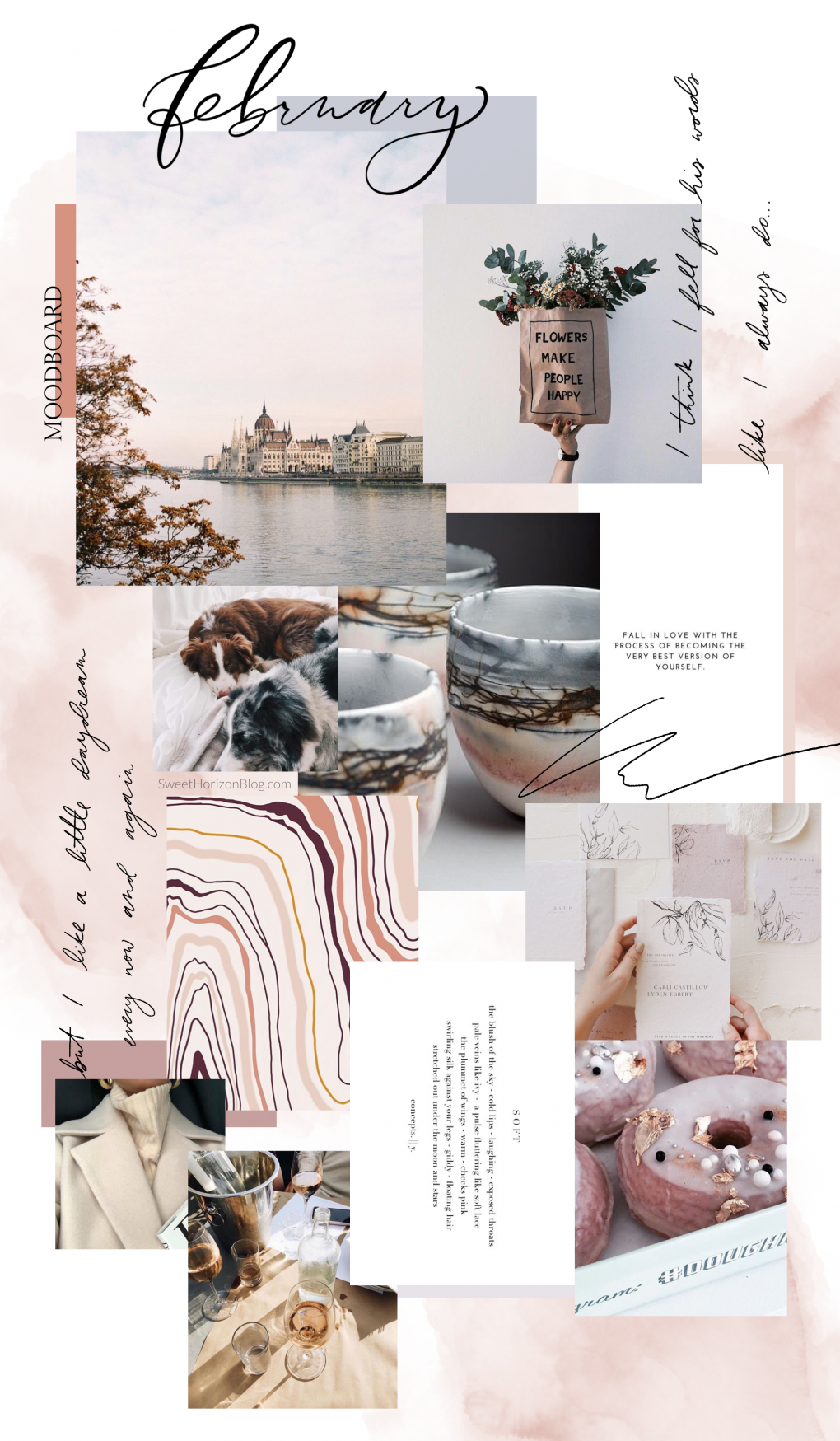 February Free Background + Monthly Goals