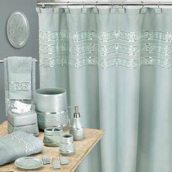Popular Bath Paisley Sequins Bath Accessories Turquoise Bathroom