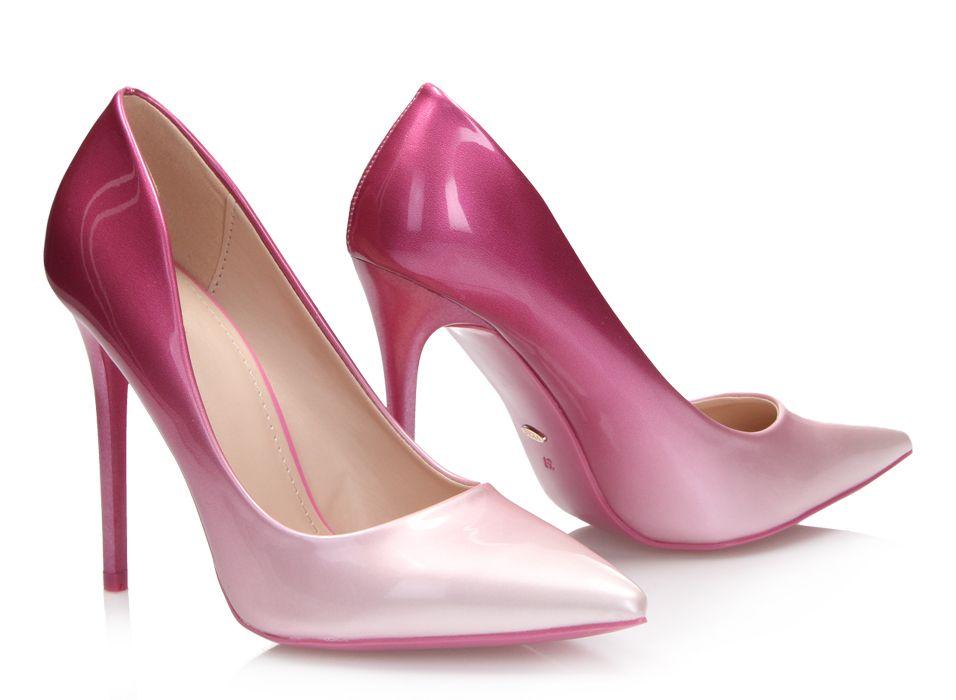 Szpilki Ombre Pink Szpilki Buty Damskie Stiletto Heels Stiletto Heels