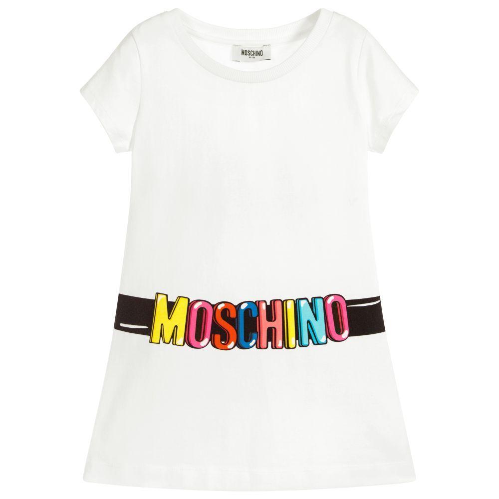 2d7d287aa4f Moschino Kid-Teen - Girls White T-Shirt Dress