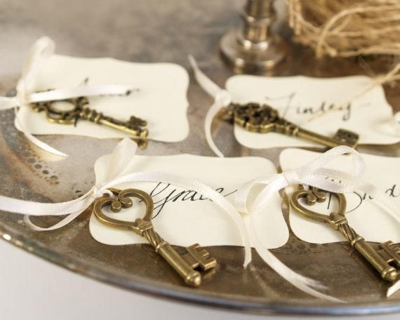 Key place cards for your wedding seating plan