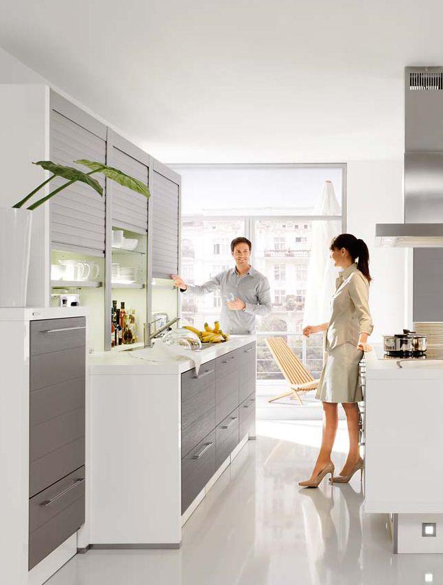 TREND LINE Die Küchenschrankwand mit Mittelblock Räumlicher