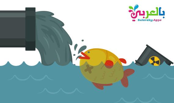 رسومات عن تلوث البيئة البحرية تلوث الماء للاطفال بالعربي نتعلم In 2021 Recyle Character Pikachu