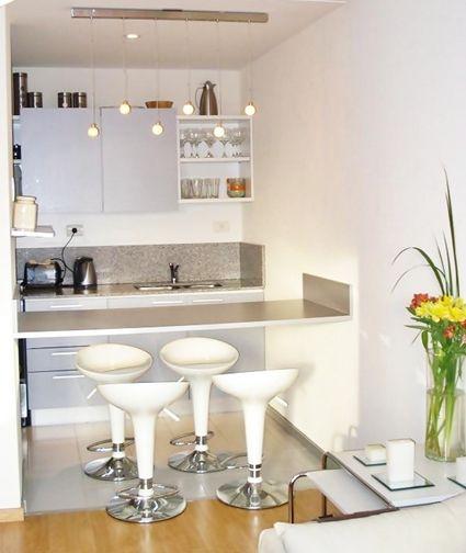 Barras y taburetes para la cocina interiors pinterest - Taburetes para cocina americana ...
