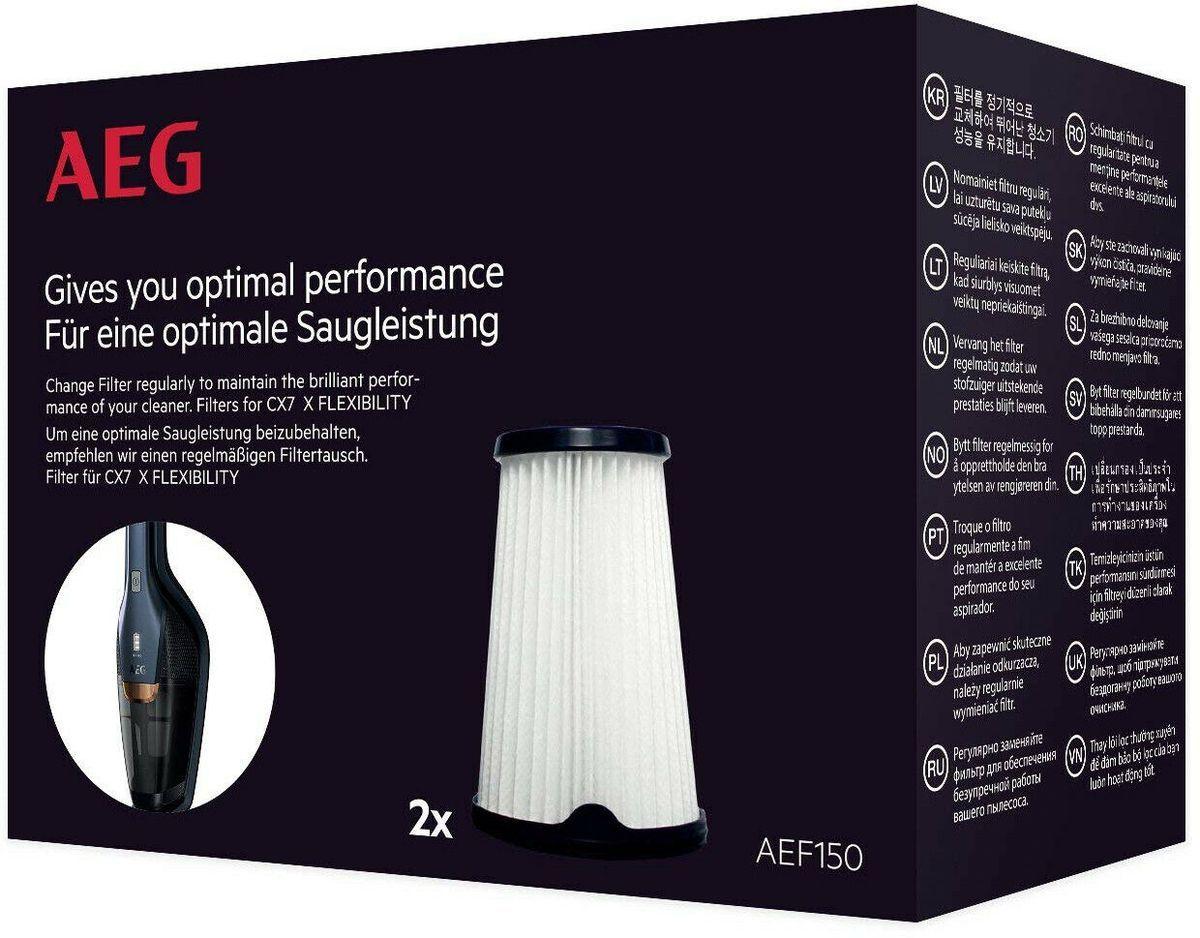Aeg Aef150 Austauschfilter Fur Akku Handstaubsauger Modell Hx6 Cx7 2 2er Pack Handstaubsauger Filter Staubsauger