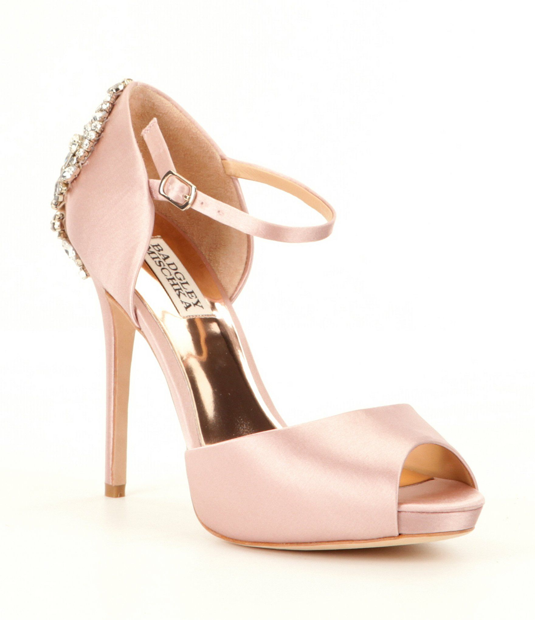 30071af7667 Shop for Badgley Mischka Dawn Rhinestone-Embellished Satin Ankle Strap Pumps  at Dillards.com. Visit Dillards.com to find clothing