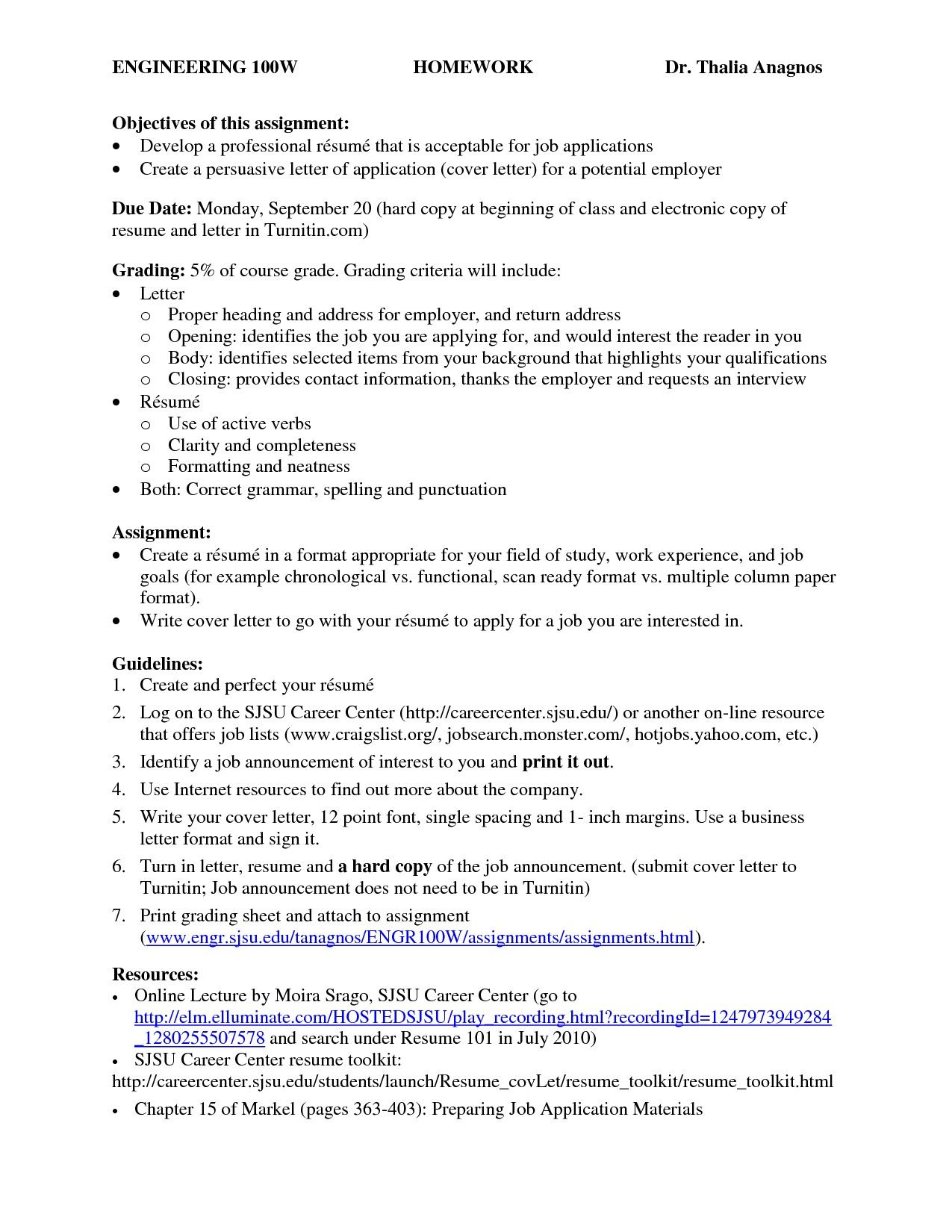 Purdue Owl Resume Format Persuasive Letter Application Cover