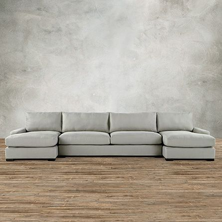 Remington 164 Quot Upholstered 3 Piece Sectional With Double