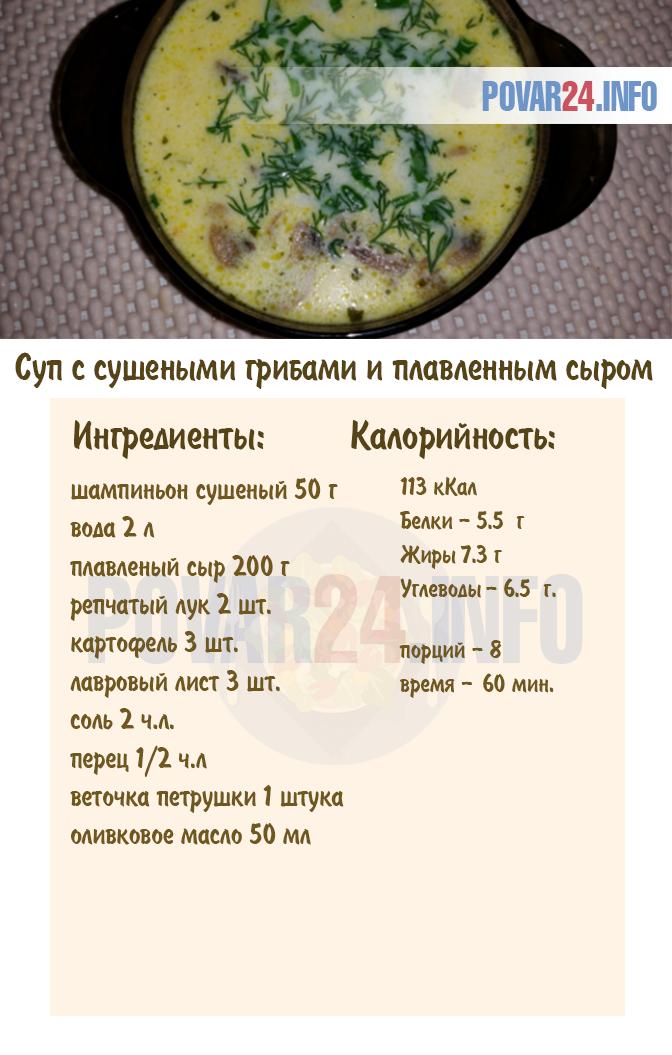 суп из сушеных грибов с фасолью рецепт