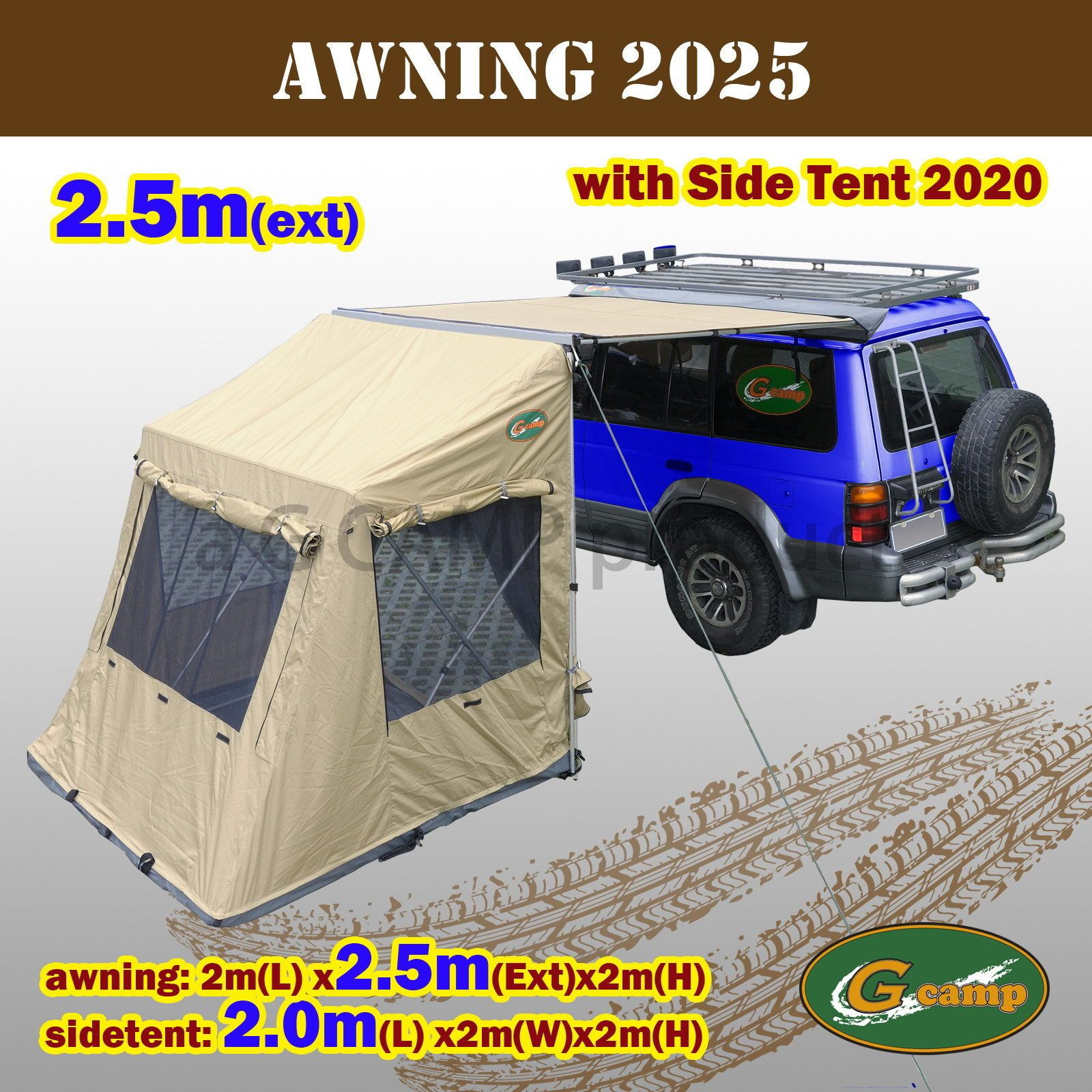 4Wd Awning Tent g camp 2025 awning pop up side tent roof top camper trailer