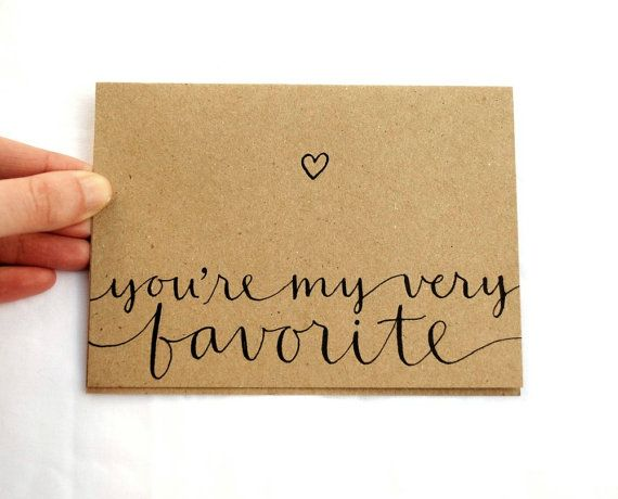 Greeting Card Youre My Very Favorite Handwritten – Homemade Valentines Day Cards for Him