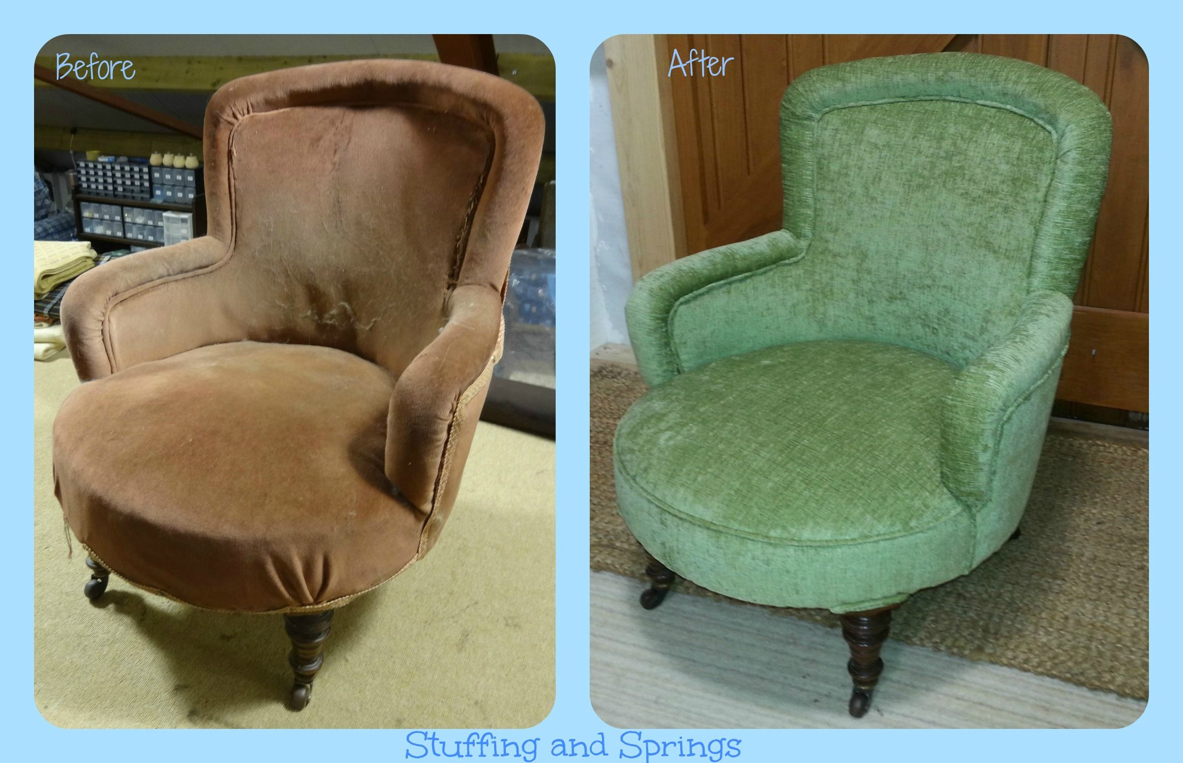 Attractive Traditionally Re Upholstered Small Antique Tub Chair. Re Upholstered  Furniture By Stuffing And