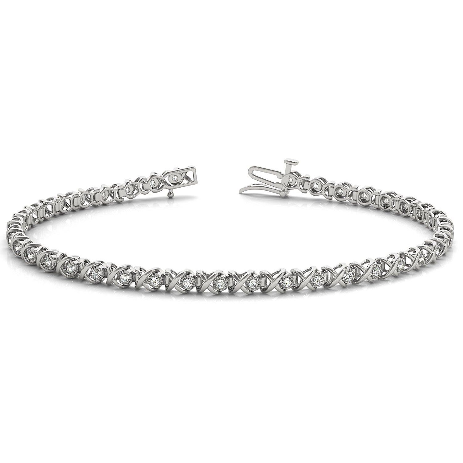 3 8 Carat Tw Diamond Bracelet In 10k White Gold Click Image To Review More Details This Is An Affiliate Link And I Receive A Commission For The S