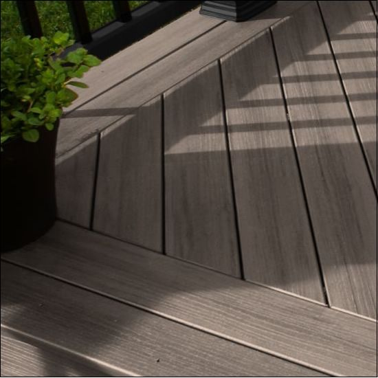 Timbertech terrain deck boards deck color silver maple Terrain decking