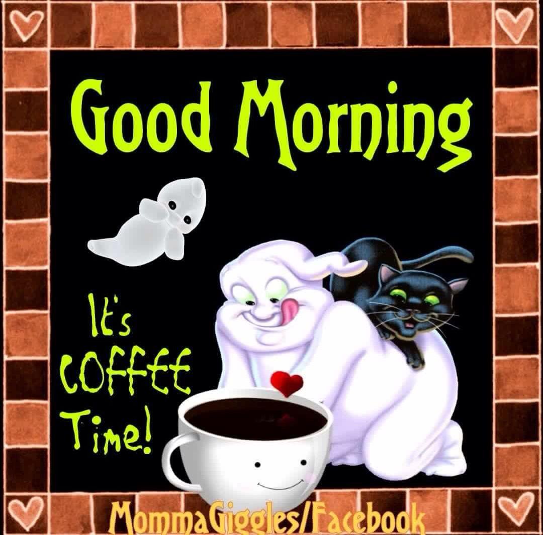 Good Morning Coffee Ghost Good Morning Coffee Halloween Coffee Good Morning