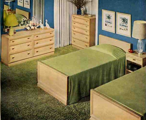 Contemporary Bedroom Furniture, Vintage Bedroom Furniture 1950s