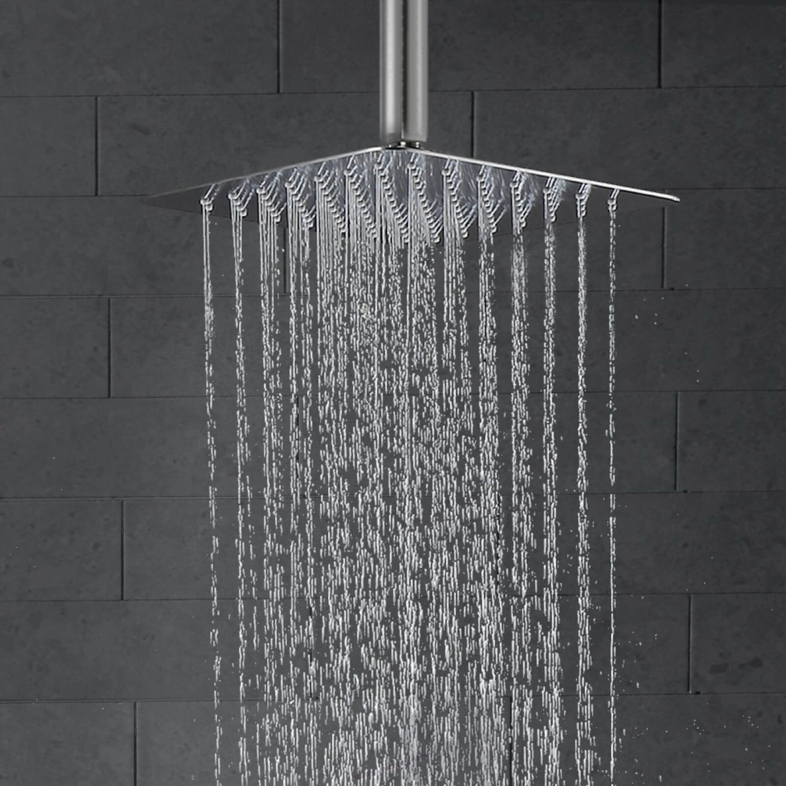 Khrodis Ceiling Shower System Brushed Nickel With High Pressure 12