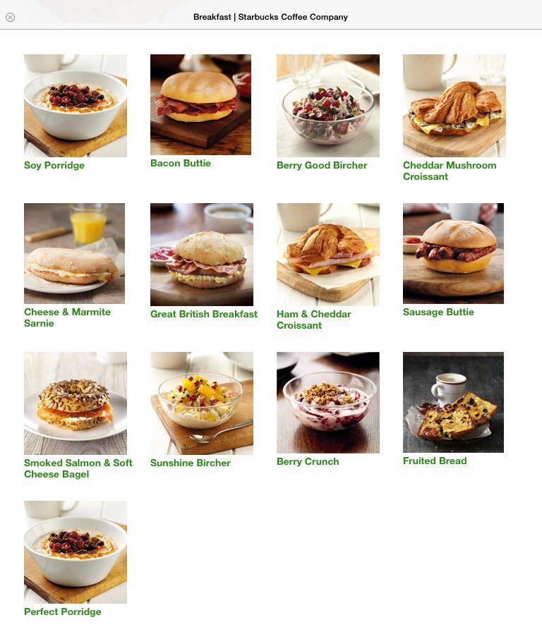 Starbucks Breakfast Menu Things To Eat In 2019 Starbucks