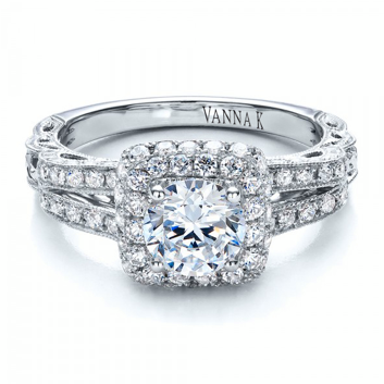 Sparkle like starz in the night with this romantic Vanna K engagement ring.    Style No: 18RGL00652DCZ love to win this as well awsome #vanna k