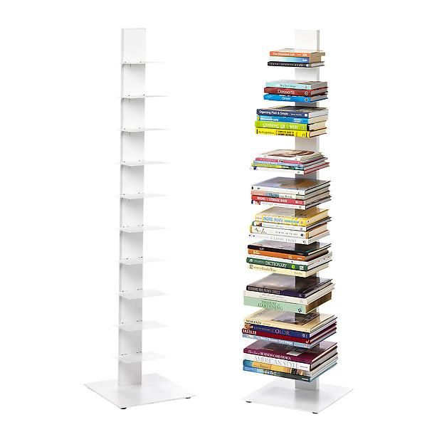 White Floating Bookshelf The Container Store Floating Bookshelves Sapien Bookcase Bookshelves