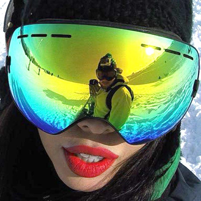 48502a18b6cd Professional Ski Goggles Double Anti Fog UV-CUT Spherical Skiing Eyewear  Outdoor Sports Snow goggles Ski Glasses For Men Women