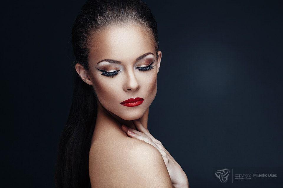 Beauty portrait portrait of beautiful woman with nice