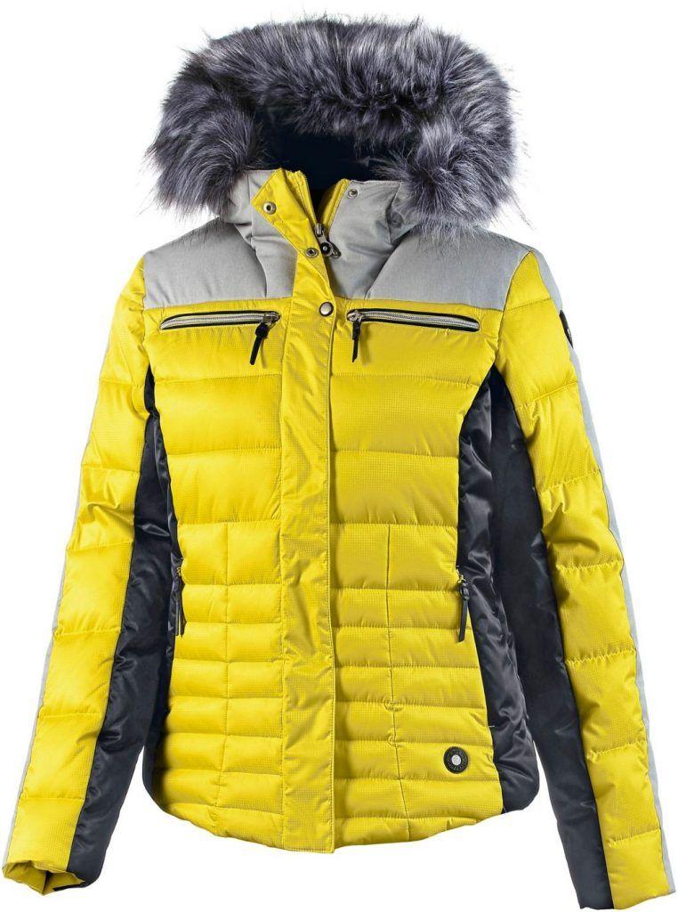 9f10710d3188 ICEPEAK  Cathy  Skijacke  Damen  gelb schwarz   sports glamour ...