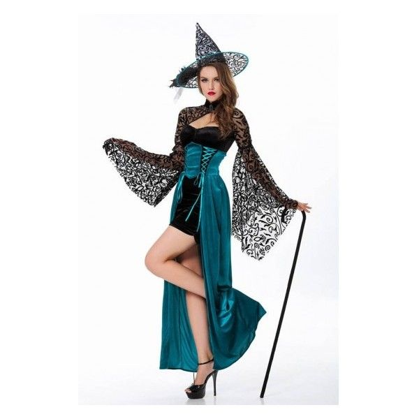 Teal Storybook Vintage Witch Costume 43 Liked On Polyvore Featuring Costumes White