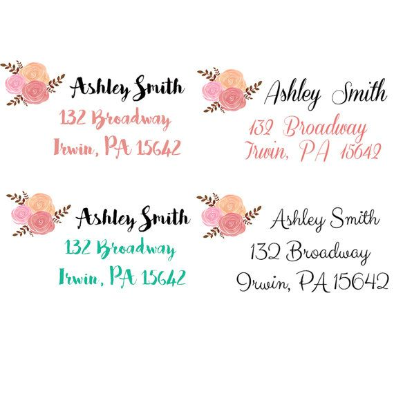 return address labels address