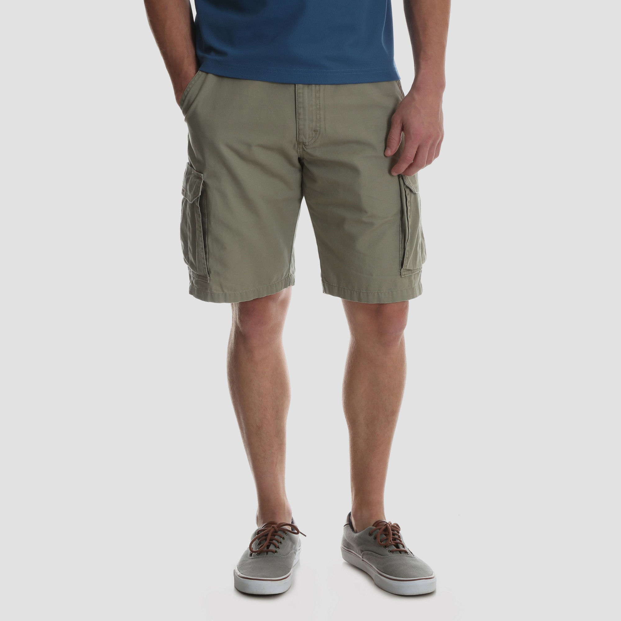 0325368ec9 Wrangler Men's Big & Tall 10 Ripstop Cargo Shorts - British Khaki 46 ...