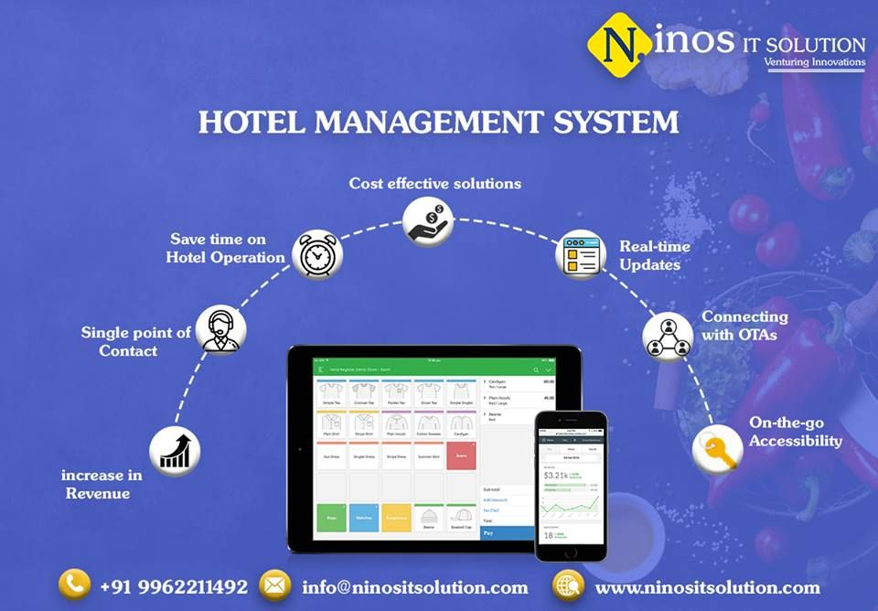 Ninos IT Solution is a hotel management software that