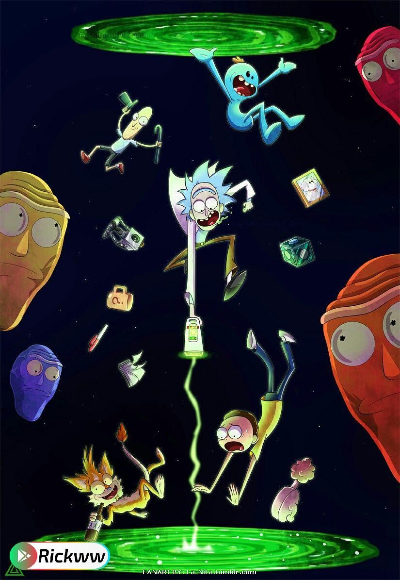 Rick Morty Wallpaper Rick And Morty Poster Rick I Morty Rick And Morty