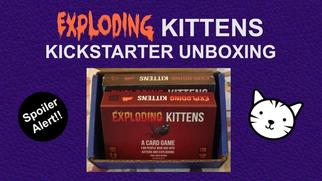 Exploding kittens card game unboxing spoiler alert