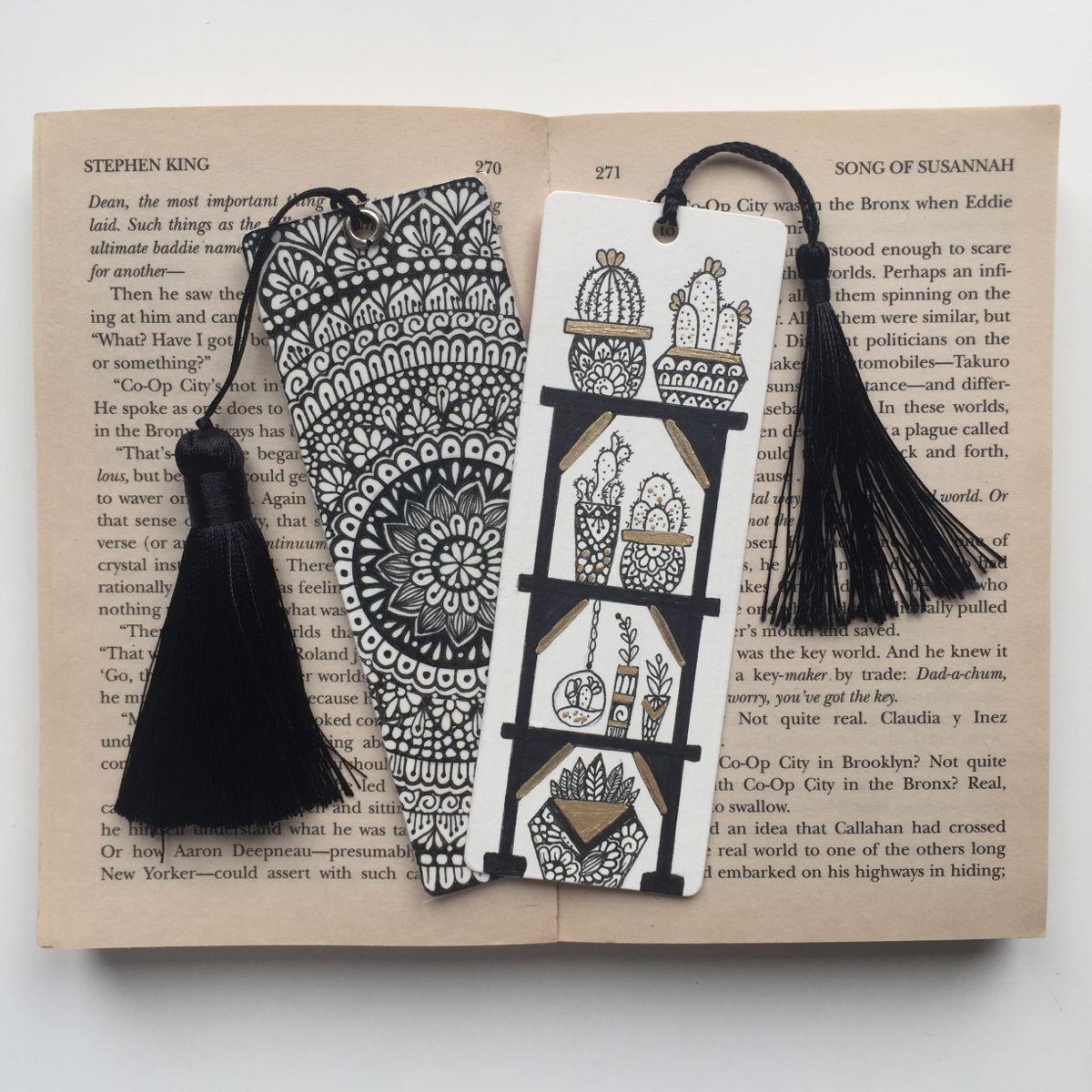 Cactus Bookmark Zentangle Bookmark Bookmark Unique Bookmark Cute Bookmark Mandala Art Lesson Mandala Design Art Mandala Book