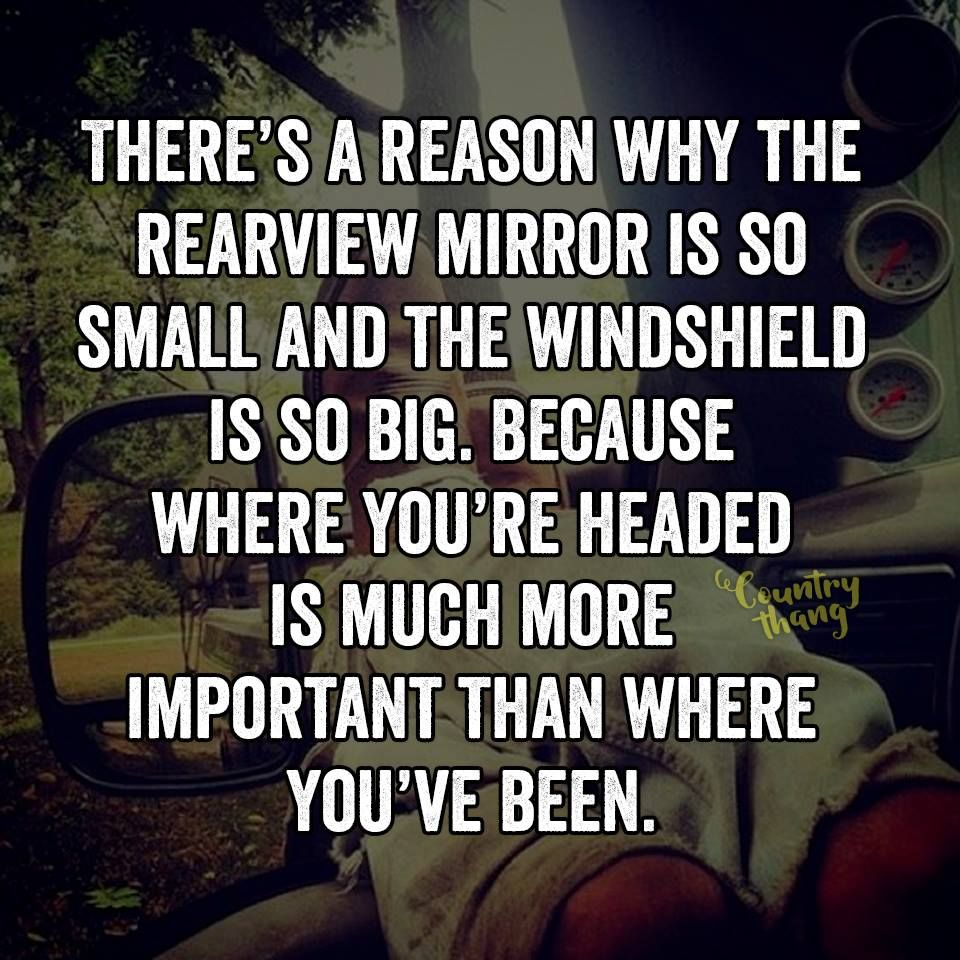 Image result for rearview mirror quote
