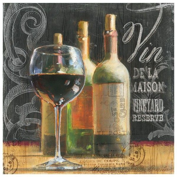 Blackboard Wine Canvas Wall Art ($42) ❤ Liked On Polyvore Featuring Home,  Home