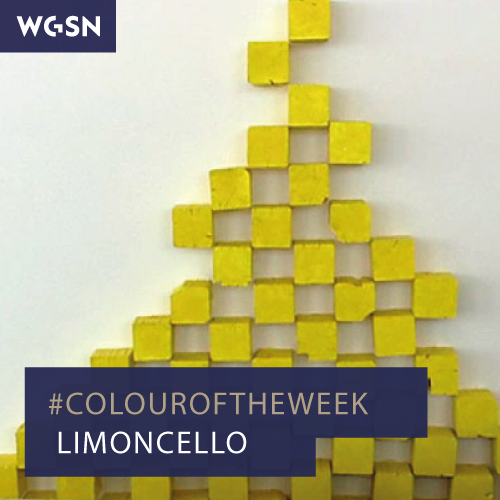 Our #colouroftheweek is Limoncello. We are starting to see lemon across the S/S 15 catwalks this season as well in various art shows in and around London.  Credit:Richard Tuttle Art in the Twenty-First Century. WGSN guides global and cultural colour direction. Our team of experts identify, analyse and predict key colours that will drive and influence the commercially successful products and services of the future.