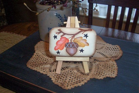 Handpainted Fall Leaves Acorn Bath Soap by Primgal on Etsy