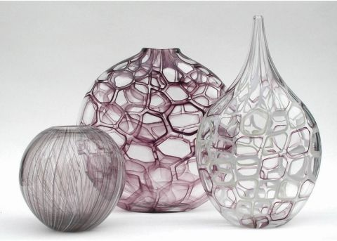blown glass vases by Solos Glass