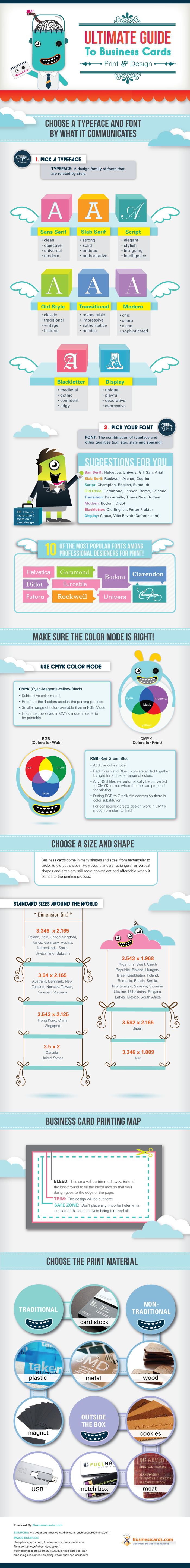 Ultimate Guide To Business Cards #Infographic