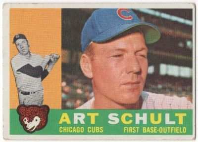 chicago cubs 1960s | 1960 Topps #68 ART SCHULT CHICAGO CUBS EX-MT to EX-MT