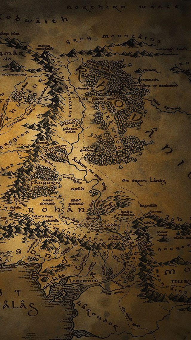 Map Of Middle Earth iPhone 6 Wallpaper | ID: 48870 in 2019 ...