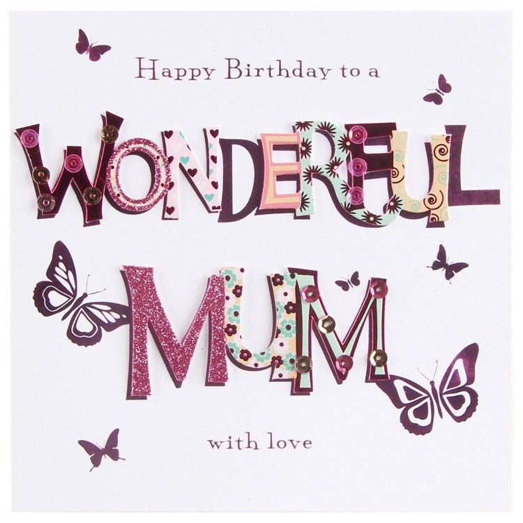 Happy birthday mum things Pinterest – Happy Birthday Mom Card